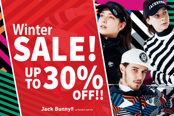 Jack Bunny! WINTER SALE 1月1日AM0時スタート!!